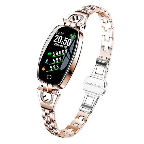 kdjsic H8, Pulsera Inteligente para Mujer, Pulsera de Fitness, Pulsera Inteligente de Ritmo cardíaco, Reloj de presión Arterial, rastreador de Ejercicios, Reloj Inteligente, Reloj Inteligente