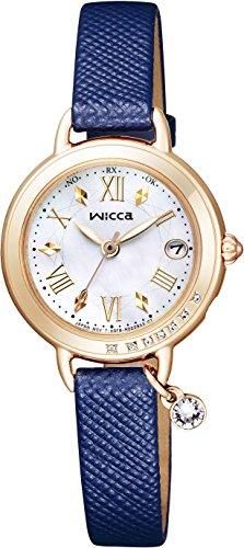 [シチズン]CITIZEN 腕時計 wicca ウィッカ ソーラーテック電波時計 ブレスライン ハッピーダイアリー KL0-821-10 レディース