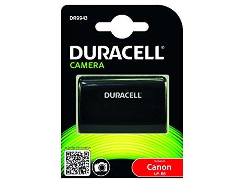 Duracell DR9943 - Batería para Cámara Digital 7.4 V, 1400 mAh (Reemplaza Batería Original de Canon LP-E6), Negro
