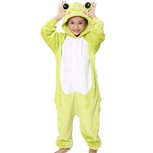 LifenewBaby pour Enfants Barboteuse Enfants Dessin animé Animal Pyjama Animie Cosplay Costume à Capuche Jumpsuits-Frog - Vert - XX-Small