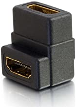 C2G 18400 Right Angle HDMI Female to Female Coupler, Black