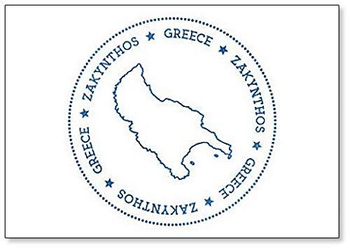 Griekenland Zakynthos Kaart Badge - Klassieke Koelkast Magneet