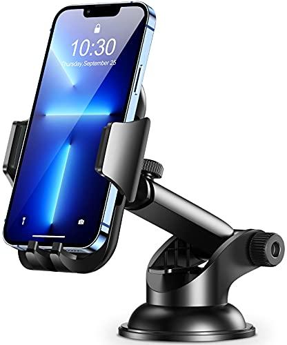 Cocoda Supporto Smartphone per Auto, Cruscotto Parabrezza Porta Cellulare da Auto, 360° di Rotazione Braccio Estensibile Supporto Cellulare Auto Compatibile con iPhone 12 12 Mini 11 Pro Max, Samsung