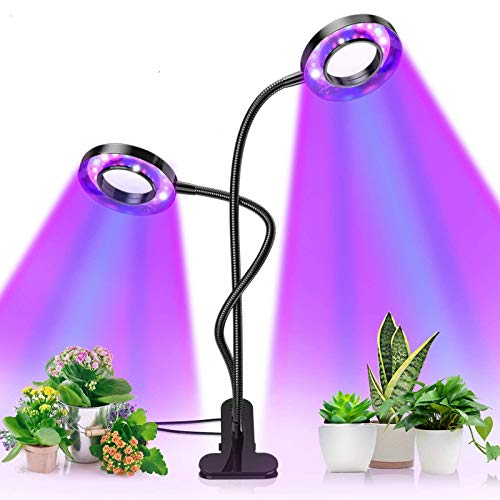 Pflanzenlampe, Pflanzenlicht mit UPGRADED Automatische Zeitschaltuhr, Lovebay 18W Rot Blau Dimmbar Schwanenhals Grow Led Wachsen licht Pflanzenleuchte Wachstumslampe Lampe für Bonsais Pflanzen