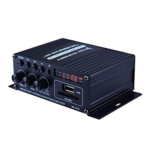 gazechimp Mini Amplificador de Som de Controle Remoto E Alto-falante com Alto-falante Bluetooth 12V FM USB