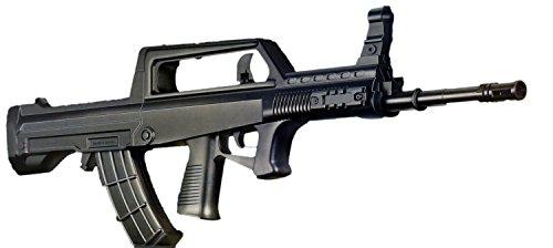 Nick and Ben Softair-Gewehr Spielzeug Airsoft Federdruck Waffe 95T schwarz im Bullpup Design, Set mit 6 mm BB Munition, max. 0,5 J