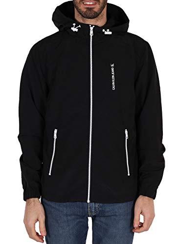 Calvin Klein Jeans Herren Vertical Logo Windbreaker Windjacke, Ck Schwarz, Medium