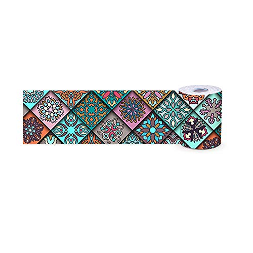 Marruecos Papel pintado frontera autoadhesivo Peel Stick Home Ceiling decorativo frontera para baño, sala de estar cocina 10 x 500 cm