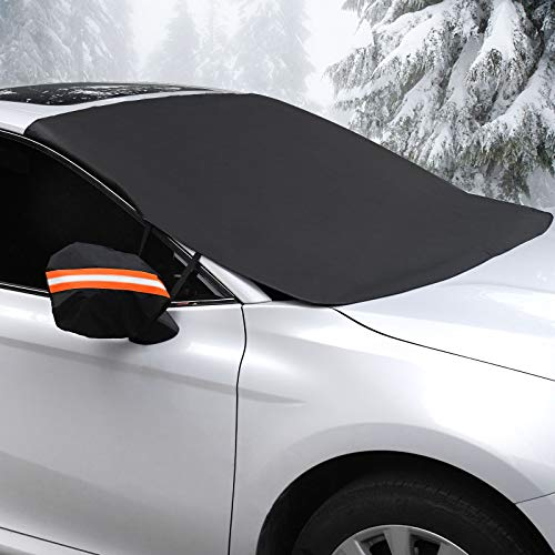 Coindivi Car Windshield Snow Cover with Side Mirror Covers, for Ice, Trucks, SUV, Winter Snow Shield Car Window, Magnetic Waterproof Oxford Windows Wiper Protector, All Weather Car Cover