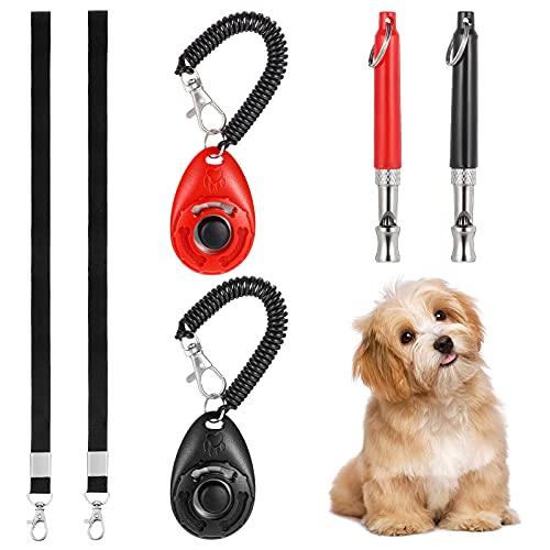Teblacker Hundepfeife, Professionelle Ultraschall-Hundetrainingspfeife mit Lanyard & Hundetraining Clicker, für Rückruf- und Stoppbellen-Hundetrainingsset