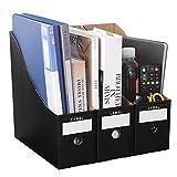 3 revisteros de papel kraft para revistas manualidades caja estantería de almacenamiento archivador de documentos de escritorio documentos A4 CD libro correo
