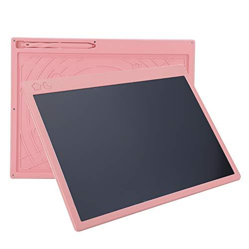 Tableta de escritura LCD de 16 pulgadas Escritura en color Pizarra electrónica Escritura a mano Tablero de dibujo Tablero de notas de mensajes para niños Adultos Oficina de la escuela en casa(Rosado)