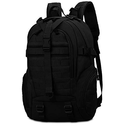 CX&LL 35L Taktischer Militärischer Rucksack für Wandern Reisen Trekking Tasche Tactical Bag Assault Backpack Military Camping Pack Outdoor Daypacks, Schwarz