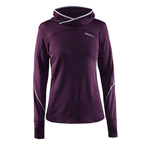 Craft Mind Damen Kapuzen-Sweatshirt M 2485 Space Chiné/Pla