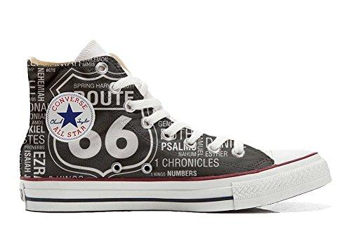 Unbekannt Sneakers American USA - Base personalisierte Schuhe (Custom Produkt) Route 66 Black - Size EU37