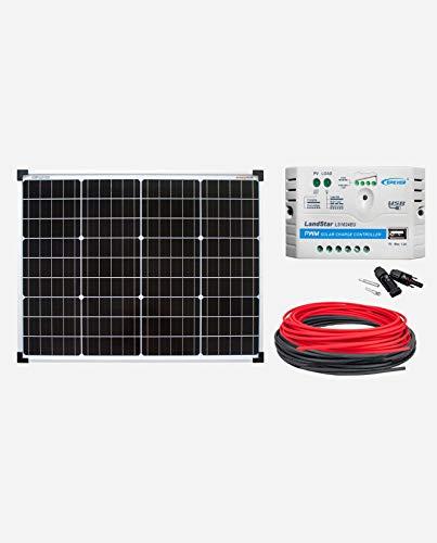 enjoysolar/® C/âble de batterie 6 mm 2 R/égulateur de charge solaire et batterie avec fusible M8 /Œillets de 1,5 m M8 10 A