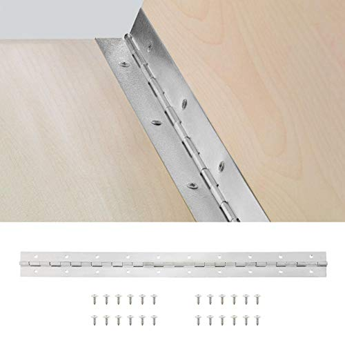 BEAMNOVA Piano Hinge Continuous Hinges 2x24 Inch 304 Stainless Steel with Screws