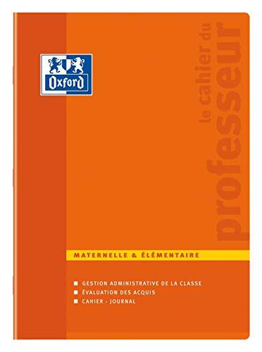 Oxford Enseignants Cahier de Professeur Maternelle et Elémentaire 24 x 32 cm 100 Pages Couleurs Aléatoires