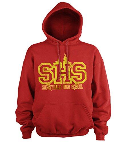 Buffy The Vampire Slayer Officiellement sous Licence Sunnydale High School Sweat à Capuche (Rouge), Medium