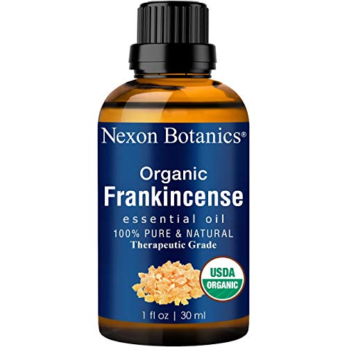 Organic Frankincense Essential Oil 30 ml - USDA Certified Frankincense Oil Organic - Pure, Natural Frankensence Essential Oil for Diffuser and Aromatherapy from Nexon Botanics