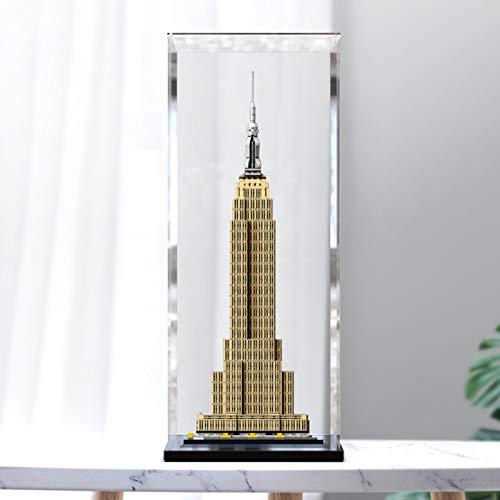 icuanuty Vitrina de Acrílico para Lego 21046 Architecture - Empire State Building, Display Case Vitrinas para Colecciones Modelismo (Solo Vitrina)