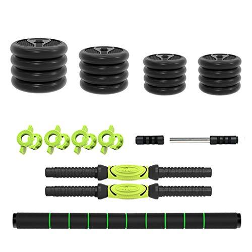 Juego de mancuernas para principiantes, para actividades de fitness, para el hogar, equipo de fitness para hombre, peso ajustable, equipo de fitness (color: verde, tamaño: 30 kg)