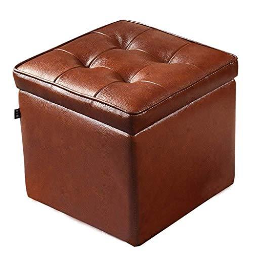 Yxsd poggiapiedi Exchange Bench | sgabello portaoggetti | poggiapiedi imbottito | pratico cubo ottomano | sgabello in poliuretano per soggiorno e camera da letto max 120 kg