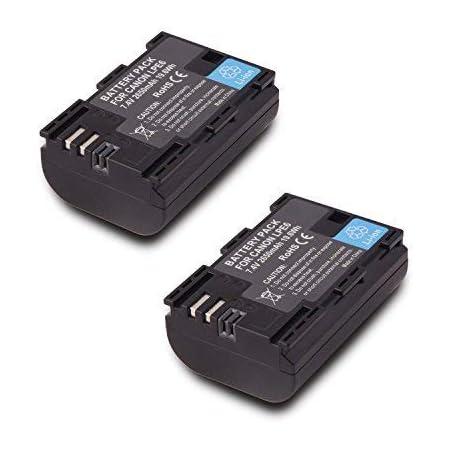 Amazon Com 2 Pack Replacement Canon Lp E6 Lp E6n Battery For Canon 60d 70d 80d 5ds R 5d Mark Ii Iii Iv 6d 7d C700 Xc15 Cameras 2650mah 100 Compatible With Original