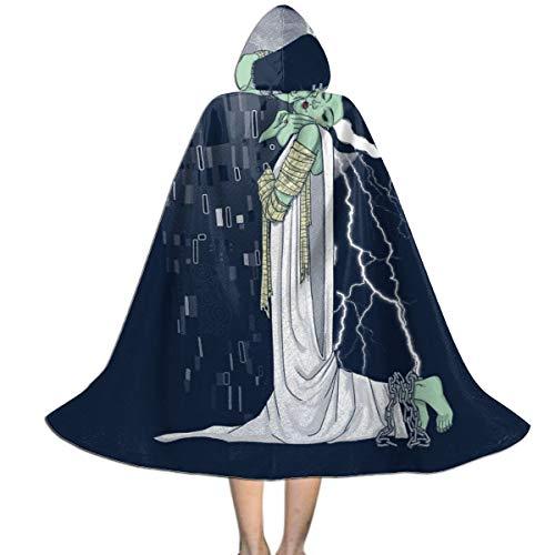 NUJIFGYTCRD - Capa con Capucha Unisex para Disfraz de Novia de Frankenstein