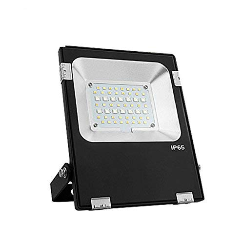 KingLed – Mi-Light Foco LED de Jardín Wi-Fi RGB+CCT 20W impermeable IP66...