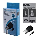 Bluetooth Adapter with Microphone for PS4 HLRAO,USB Adapter Mini USB 4.0 Bluetooth Adapter/Dongle Receiver and Transmitters Dongle Bluetooth Compatible with PS4 Playstation Support A2DP HFP HSP.