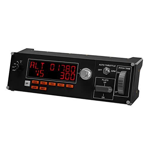 Logitech G Saitek Pro Flight Multi-Panel, Autopilot-Controller für Flug Simulatoren, LCD-Display, Automatische Schubregelung, Echtzeit-Anzeigen, Dedizierte Bedienelemente, USB-Anschluss, PC, Schwarz