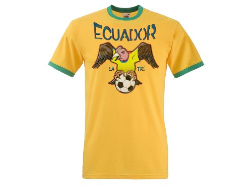 Ecuador Football Mascot Mens World Cup T-Shirt Camiseta Para Hombre