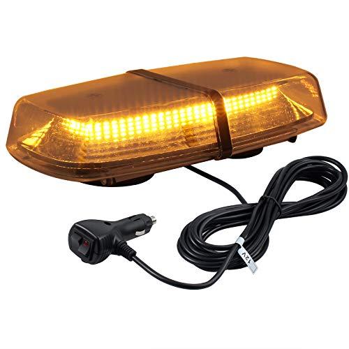 72 LED Luz Estroboscópica de Advertencia 8 Modos de Flash con 5 metros Cable de Interruptor Toma de Mechero Luz Ambar de Emergencia para 12V/24V Coche SUV Remolque Camione
