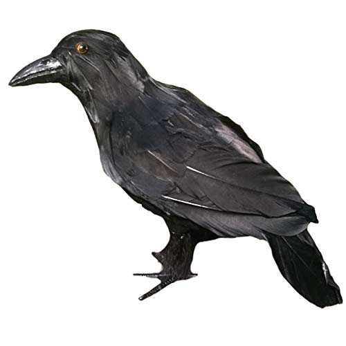 Figura de Pájaro Pájaritos Cuervo, Estatua de Animal Cuervo para Jardín - Estilo01