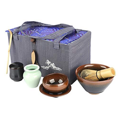 Tea Tool Juego de tenedor de té de ceremonia de té de estilo japonés Casas de té para el hogar(Rabbit)