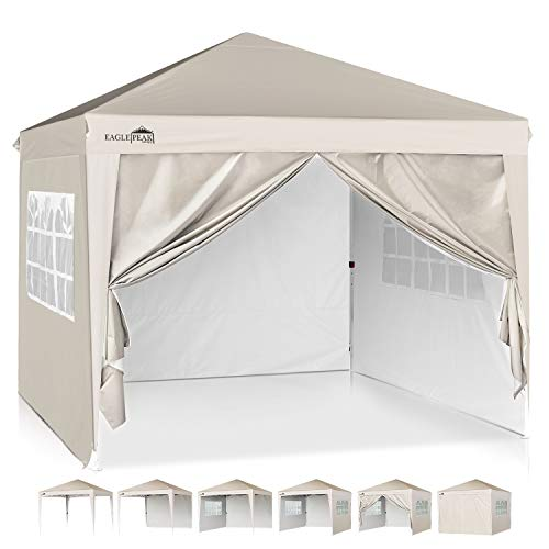 EAGLE PEAK 10' x10' Pop Up Canopy Tent with 4 Side...