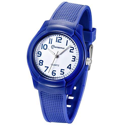 Relojes Analógicos para Niños,Niñas Impermeable Fácil de Leer Relojes de Pulsera con Correa Suave para Niñas