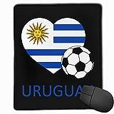 Love Uruguay Fútbol Rectángulo Alfombrilla de Goma Antideslizante Mousepad Accesorios de computadora 18 x 22 CM
