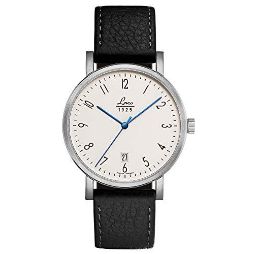 Laco Classics Brandenburg 40 - Reloj de cuerda manual, 40 mm de diámetro, fabricado en Alemania, acabado excepcional, resistente al agua, desde 1925