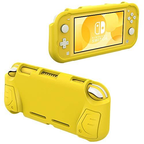 MoKo Funda Compatible con Switch Lite, Grip Case Cómodo, Manija Ergonómica de EVA, Accesorios de Cubierta Protectora Portátil Compatible con Switch Lite - Amarillo