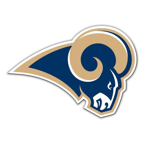 Fremont Die NFL Los Angeles Rams 12Zoll Vinyl Logo Magnet