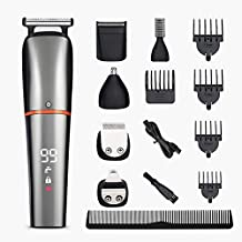 Ezostar Hair Clippers Electric Beard Trimmer Grooming Kit for Men Professional Cordless Shaver Mustache Nose Ear Detail Trimmers Precision Body Groomer USB Rechargeable,6 In 1