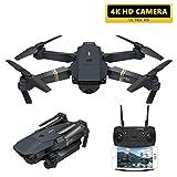 XIAOKEKE E58 Drone avec Caméra Full HD 4K pour Débutants - Drones Quadricoptère RC avec Retour Automatique/Photos & Vidéos HD 4K / WiFi en Temps Réel FPV