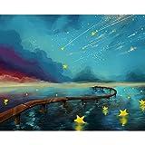 ZXDA Marco fantasía Dibujos Animados DIY Pintura por números Kits acrílico Paisaje Pintado a Mano Regalo Lienzo Dibujo hogar decoración de Pared A1 50x65cm
