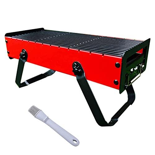 FYHH-JZHY Tragbarer Holzkohlegrill - Mini-Grill Im Freien, Faltbarer Camping-Grill, Tischgrill Im Freien, Für Picknick Im Garten