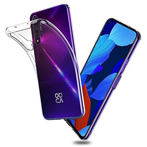 Voviqi Hülle für Huawei nova 5T, Hülle für Huawei nova 5T Handyhülle für Huawei nova 5T- Crystal Clear Ultra Dünn Durchsichtige Silikon Schutzhülle TPU Hülle für Huawei nova 5T, Transparent