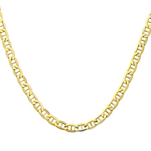 Citerna 16 inch/41 cm Length and 0.3 cm Width Fine Anchor 9 ct Yellow Gold Chain Necklace