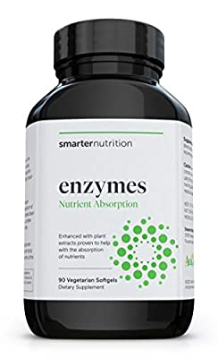 Smarter Enzymes - Digestive Enzymes for Digestion - Nutrient Absorption Aid & Daily Multi-Digestive Aids with 16 Natural Enzymes - Fights Bloating, Maximizes Energy & Improves Immunity (90 Servings)