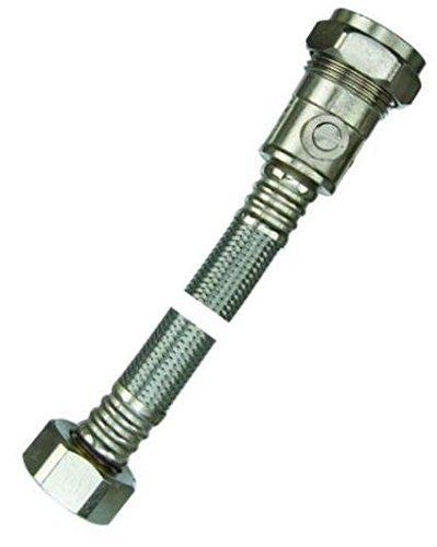 15mm x 1/2'Conector Flexible para grifo con válvula–Cisterna–Bolsa de 2